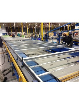 Automated wall panel production system